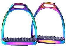 HKM Rainbow Stainless Steel Stirrup Irons