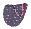 Shires Pink Flamingo Print Saddle Bag