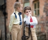 Shires Long Sleeve Tie Shirt - Childrens