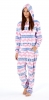 Fairisle Ladies Fleece Onesie