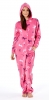 Ladies Horse Print Fleece Onesie